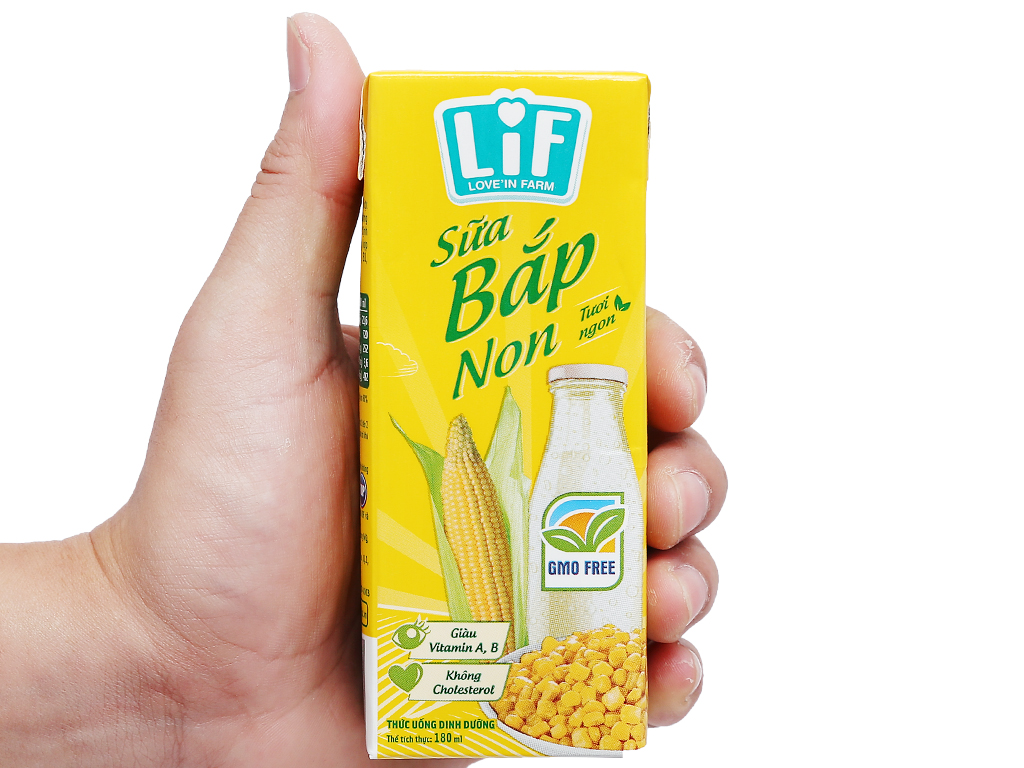 Lốc 4 hộp sữa bắp non LiF 180ml 13