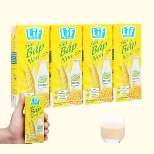 Lốc 4 hộp sữa bắp non LiF 180ml