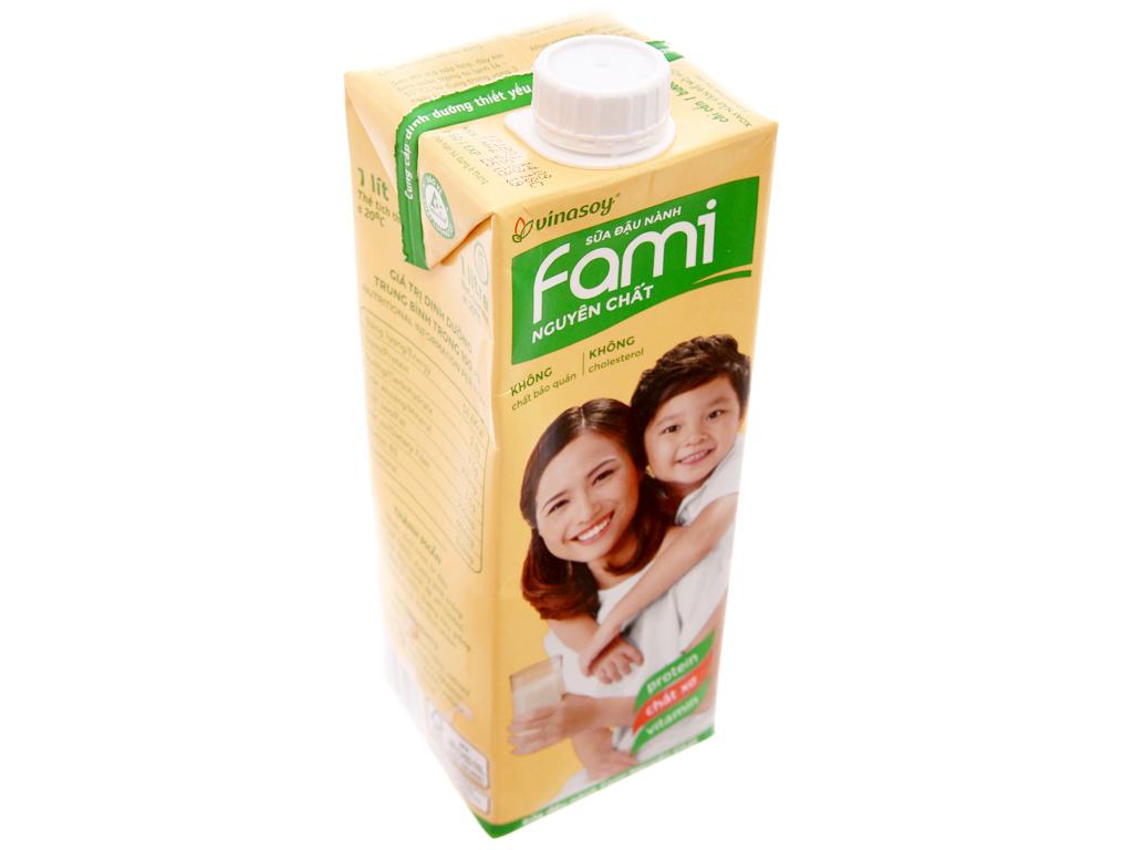 Sữa đậu nành Fami nguyên chất 1 lít 3