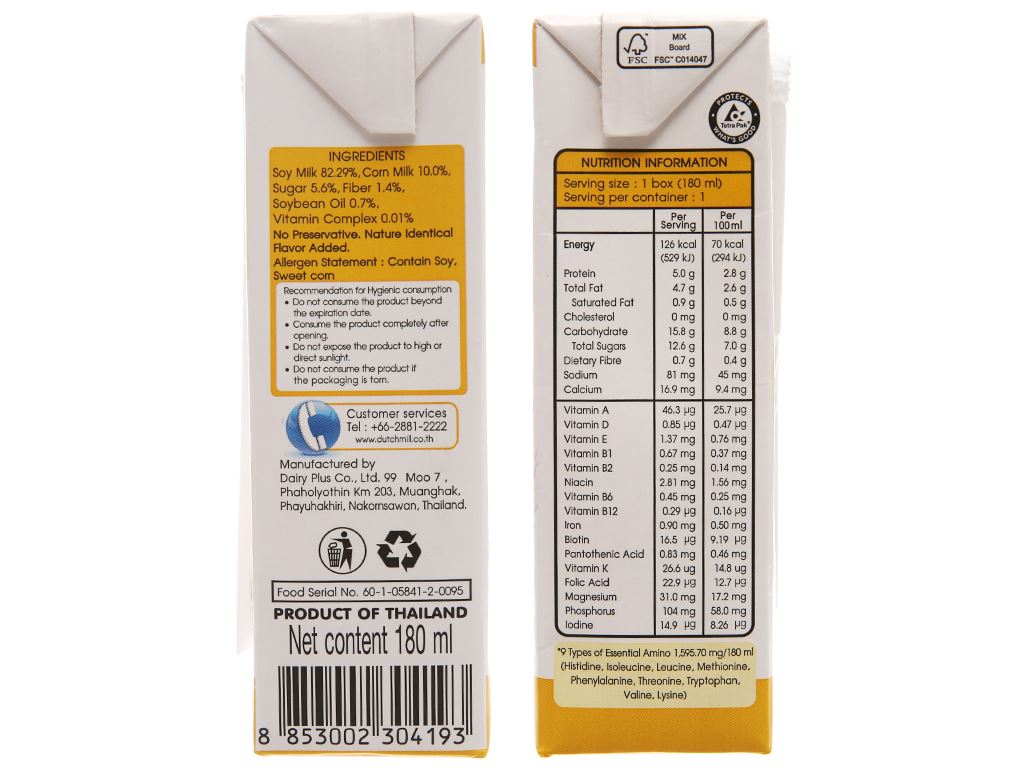 Sữa đậu nành bắp ngọt Soy Secretz 180ml 4