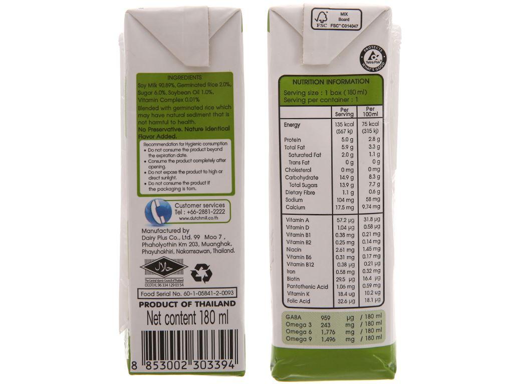 Sữa đậu nành gạo mầm Soy Secretz 180ml 4
