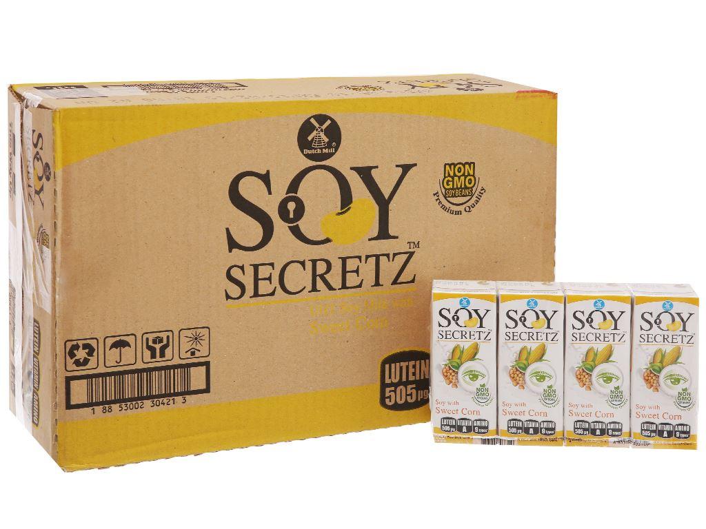 Thùng 48 hộp Sữa đậu nành bắp ngọt Soy Secretz 180ml 1