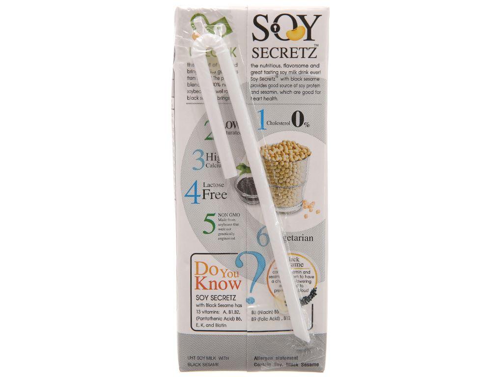 Lốc 4 hộp Sữa đậu nành mè đen Soy Secretz 180ml 3