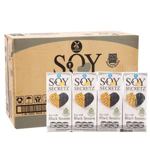 Thùng 48 hộp Sữa đậu nành mè đen Soy Secretz 180ml