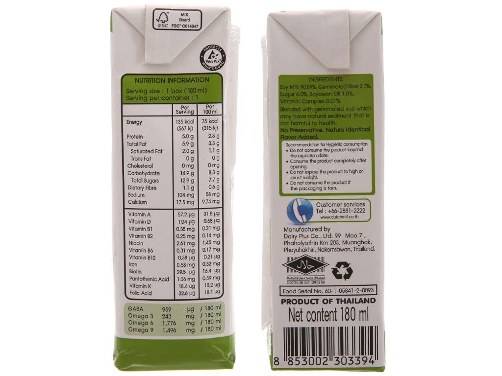 Lốc 4 hộp Sữa đậu nành gạo mầm Soy Secretz 180ml 4