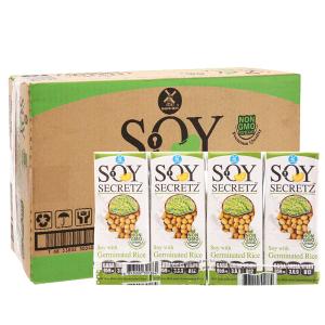 Thùng 48 hộp Sữa đậu nành gạo mầm Soy Secretz 180ml