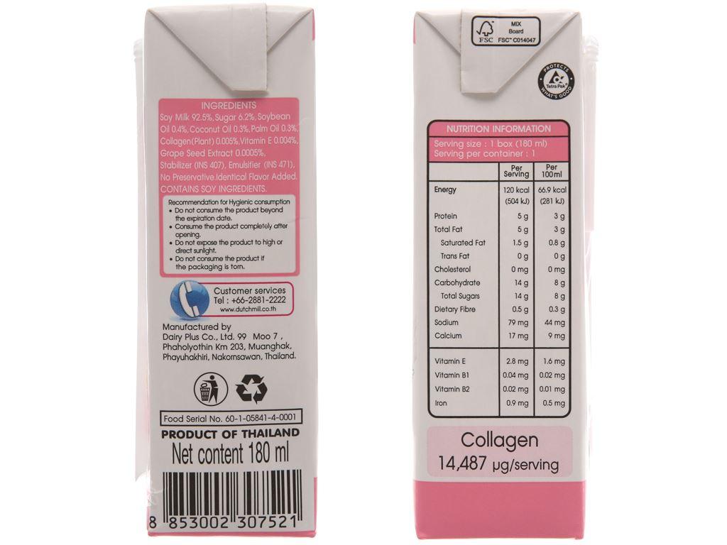 Lốc 4 hộp Sữa đậu nành Collagen Soy Secretz 180ml 3
