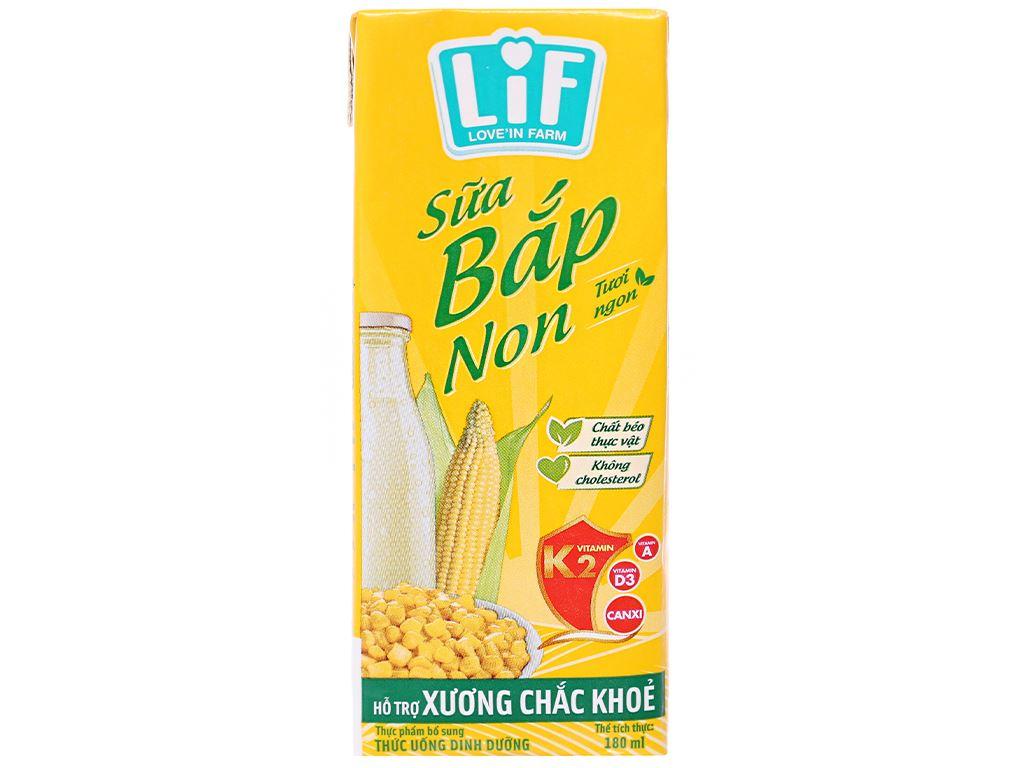 Thùng 48 hộp Sữa bắp non LiF 180ml 2