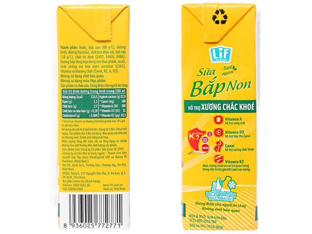 Thùng 48 hộp Sữa bắp non LiF 180ml 4