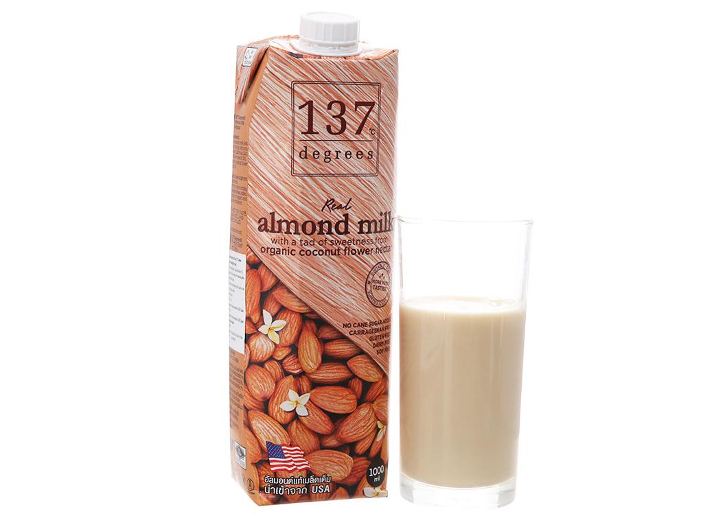 Sữa hạnh nhân 137 Degrees nguyên chất 1 lít 2