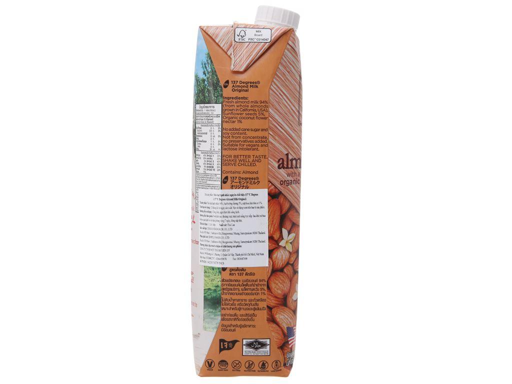 Sữa hạnh nhân 137 Degrees nguyên chất 1 lít 4
