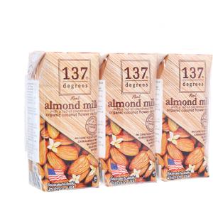 Lốc 3 hộp Sữa hạnh nhân 137 Degrees truyền thống 180ml