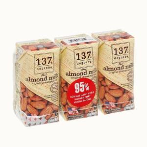 Lốc 3 hộp sữa hạnh nhân không đường 137 Degrees 180ml