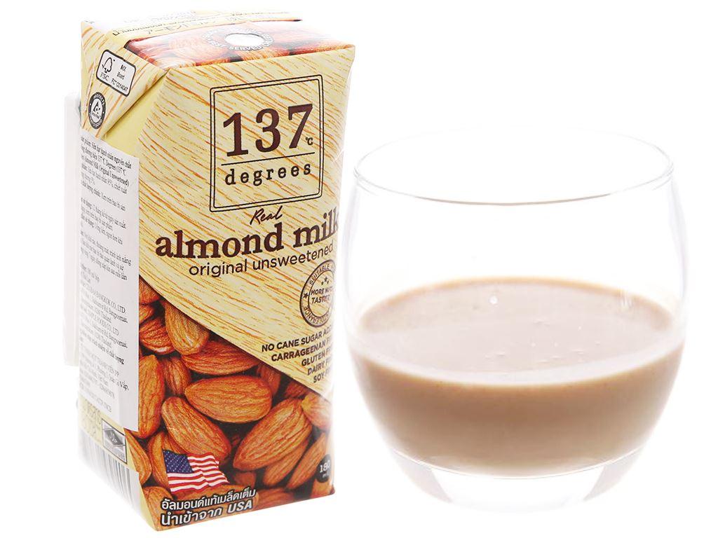 Lốc 3 hộp Sữa hạnh nhân 137 Degrees không đường 180ml 2