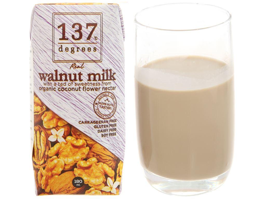 Lốc 3 hộp Sữa hạt óc chó 137 Degrees truyền thống 180ml 2