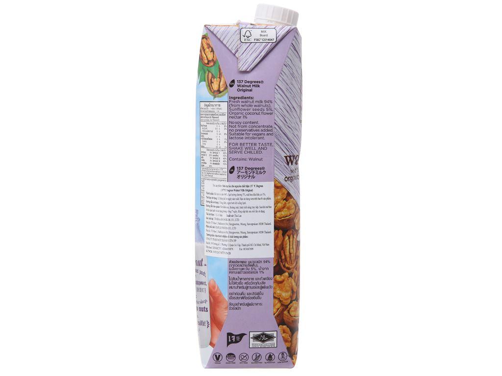 Sữa hạt óc chó 137 Degrees nguyên chất 1 lít 4