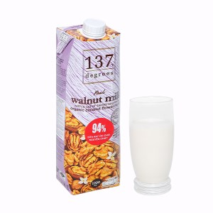Sữa hạt óc chó nguyên chất 137 Degrees hộp 1 lít
