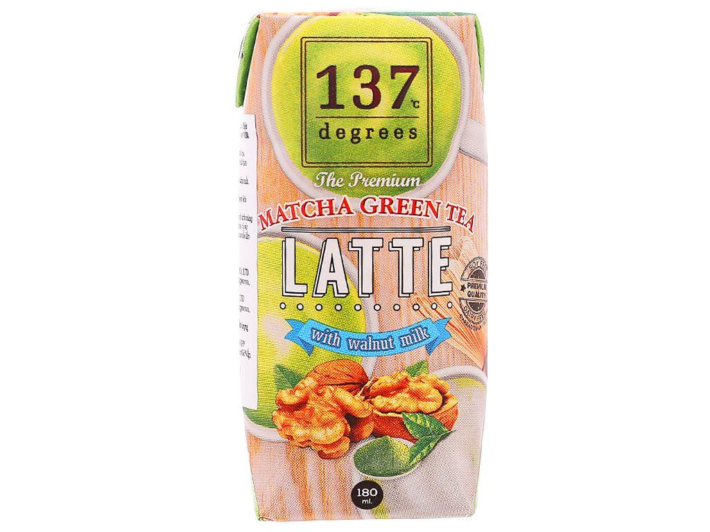 Sữa hạt óc chó trà xanh 137 Degrees 180ml 1