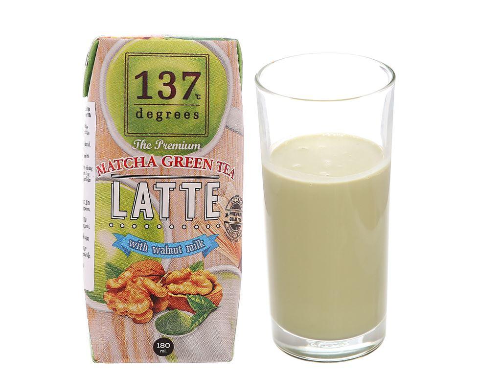 Lốc 3 hộp sữa hạt óc chó trà xanh 137 Degrees 180ml 2