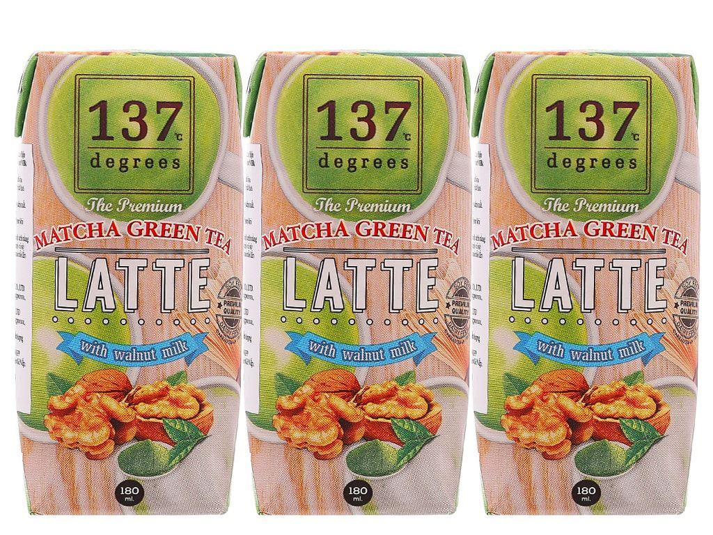 Lốc 3 hộp sữa hạt óc chó trà xanh 137 Degrees 180ml 1