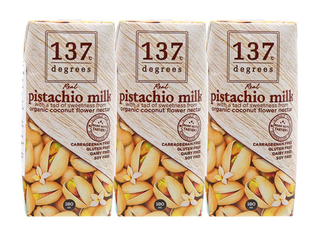 Lốc 3 hộp sữa hạt dẻ cười truyền thống 137 Degrees 180ml 1