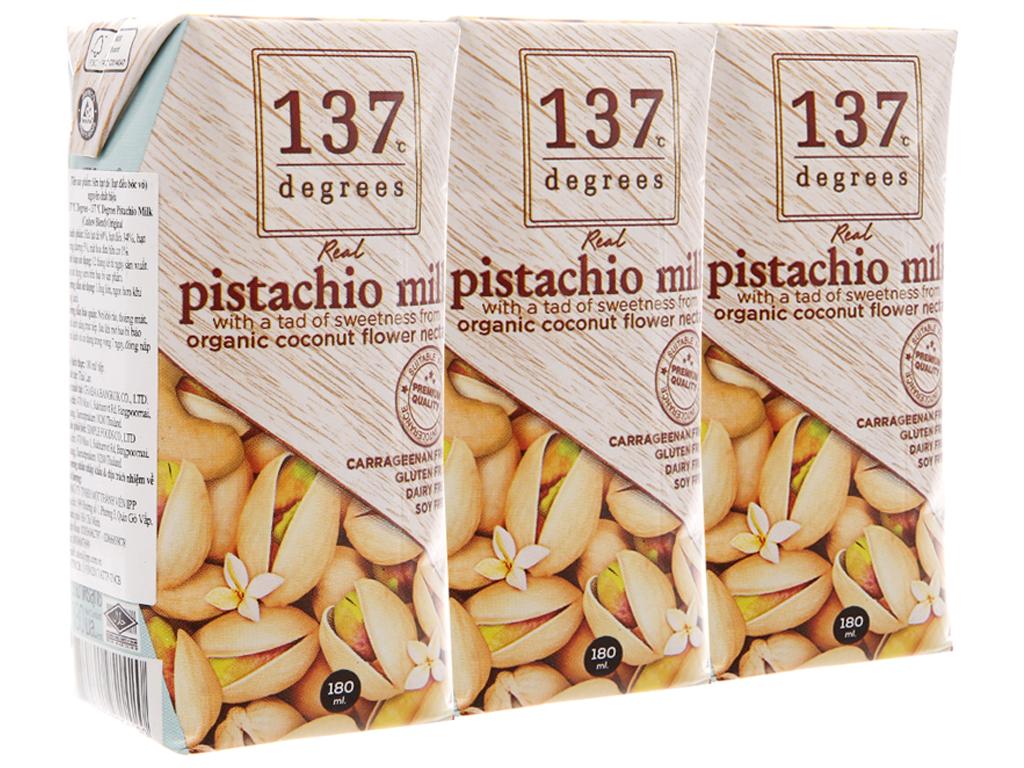 Lốc 3 hộp Sữa hạt dẻ cười 137 Degrees truyền thống 180ml 1