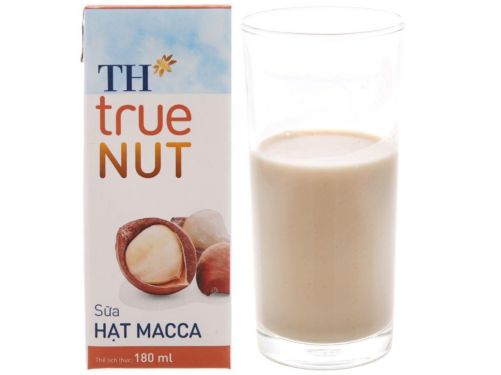 Lốc 4 hộp Sữa hạt macca TH True Nut 180ml 2
