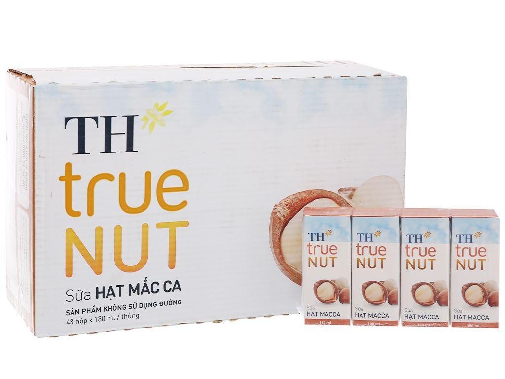 Thùng 48 hộp Sữa hạt macca TH True Nut 180ml 1