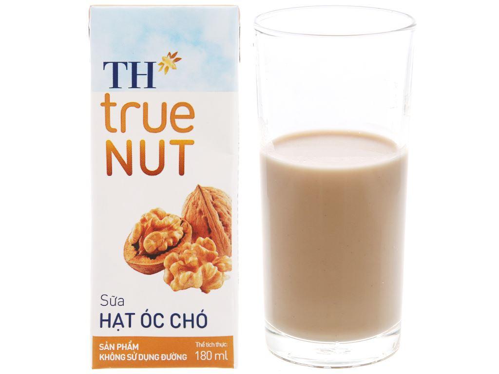 Lốc 4 hộp Sữa hạt óc chó TH True Nut 180ml 2