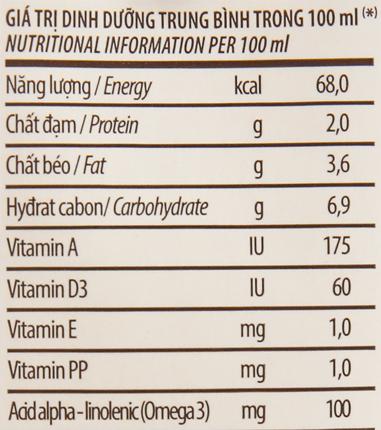 Sữa đậu nành hạt óc chó Vinamilk 180ml 6
