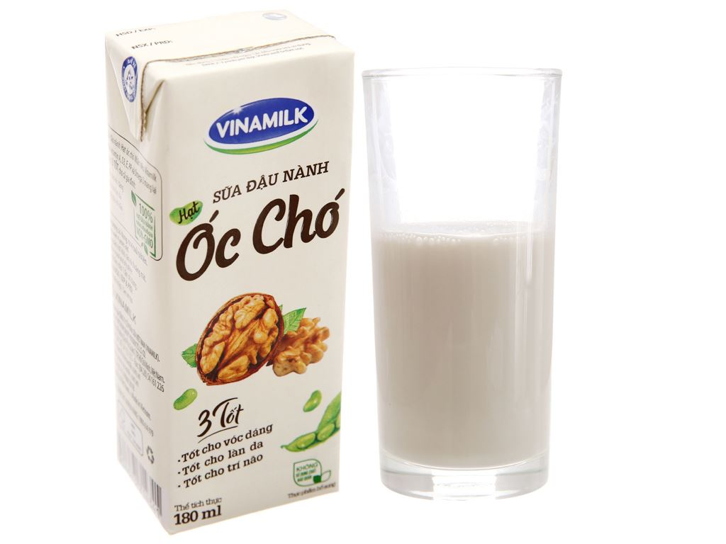 Thùng 48 hộp sữa đậu nành óc chó Vinamilk 180ml 3