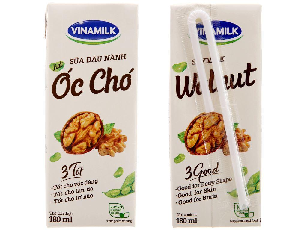 Thùng 48 hộp Sữa đậu nành Vinamilk hạt óc chó 180ml 4