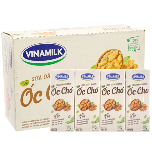 Thùng 48 hộp Sữa đậu nành Vinamilk hạt óc chó 180ml