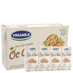 Thùng 48 hộp sữa đậu nành hạt óc chó Vinamilk 180ml