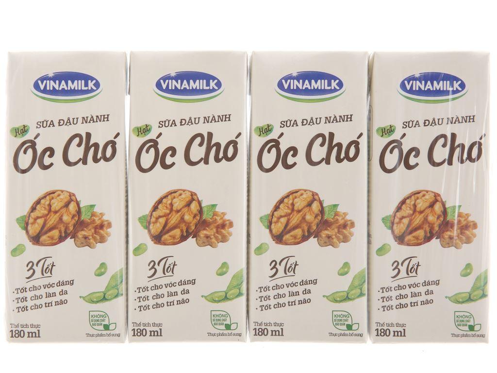 Lốc 4 hộp Sữa đậu nành Vinamilk hạt óc chó 180ml 2