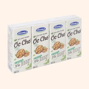 Lốc 4 hộp sữa đậu nành óc chó Vinamilk 180ml