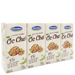 Lốc 4 hộp sữa đậu nành hạt óc chó Vinamilk 180ml
