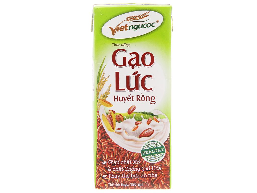 Thức uống gạo lức Việt Ngũ Cốc 180ml 6