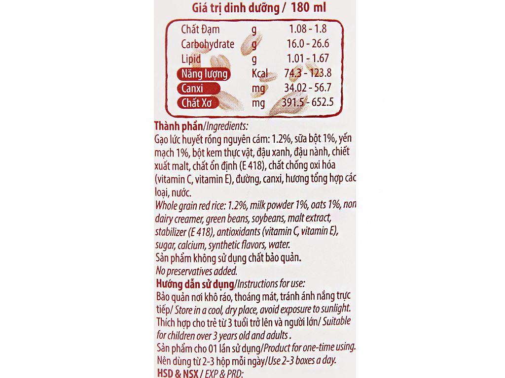 Thức uống gạo lức Việt Ngũ Cốc 180ml 10