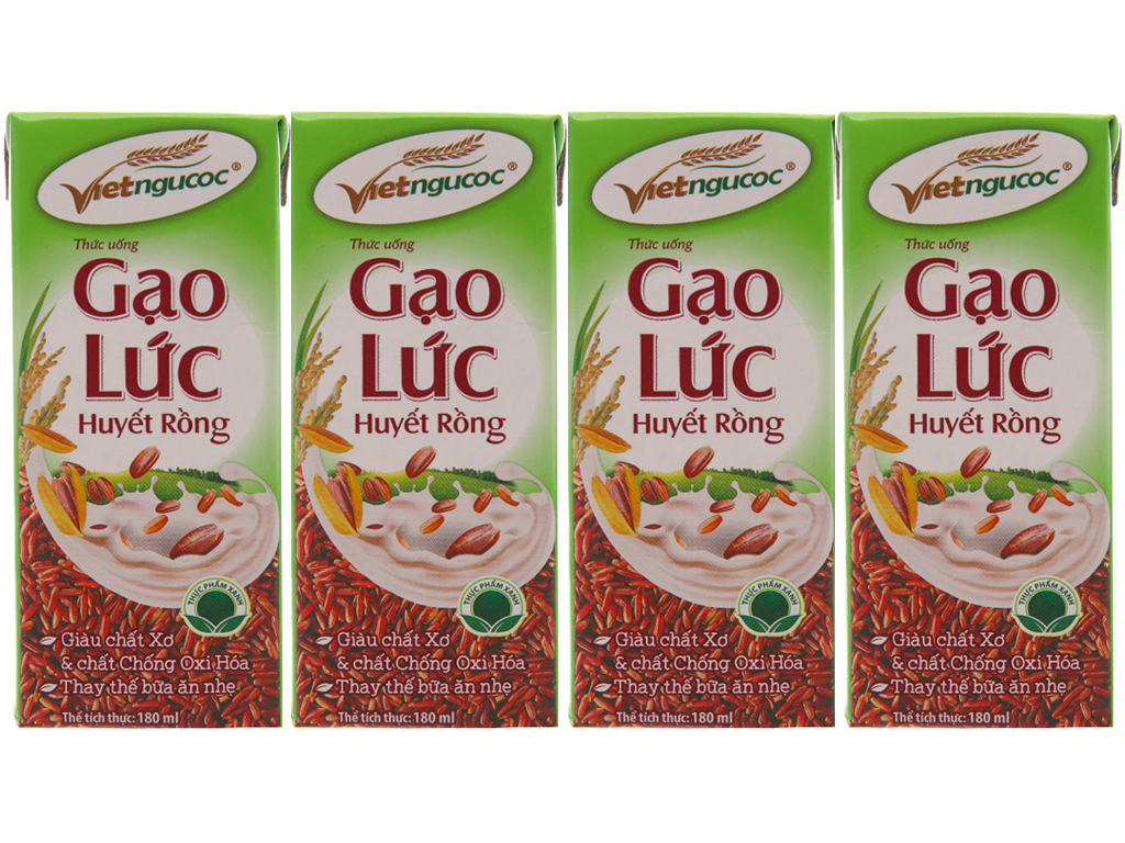 Lốc 4 hộp Thức uống gạo lức Việt Ngũ Cốc 180ml 1