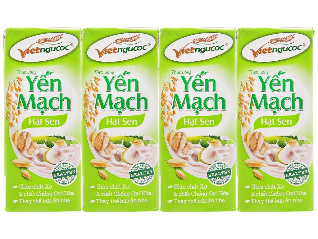 Lốc 4 hộp thức uống yến mạch hạt sen Việt Ngũ Cốc 180ml 5