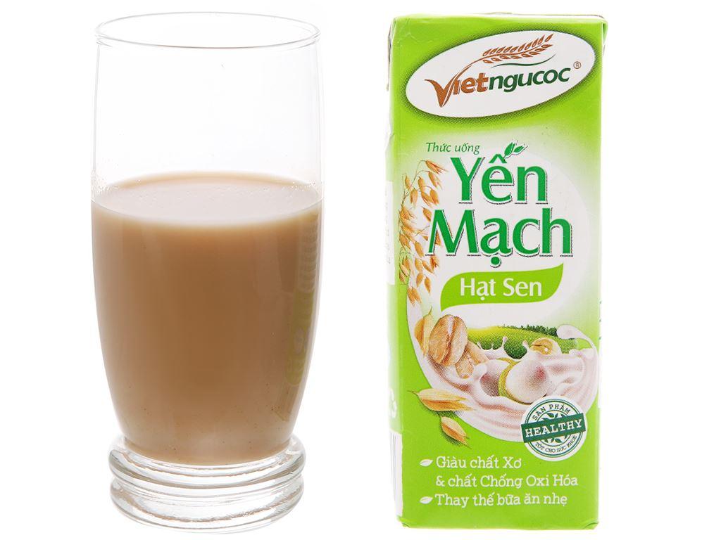 Lốc 4 hộp thức uống yến mạch hạt sen Việt Ngũ Cốc 180ml 11