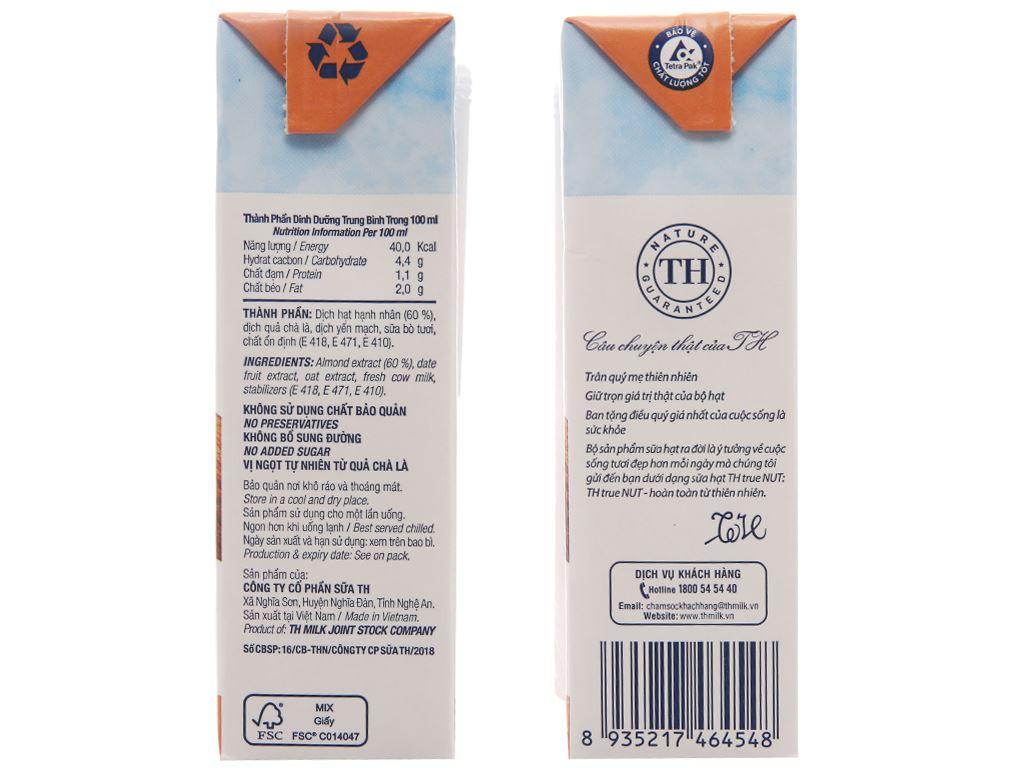 Sữa hạt hạnh nhân TH True Nut 180ml 3