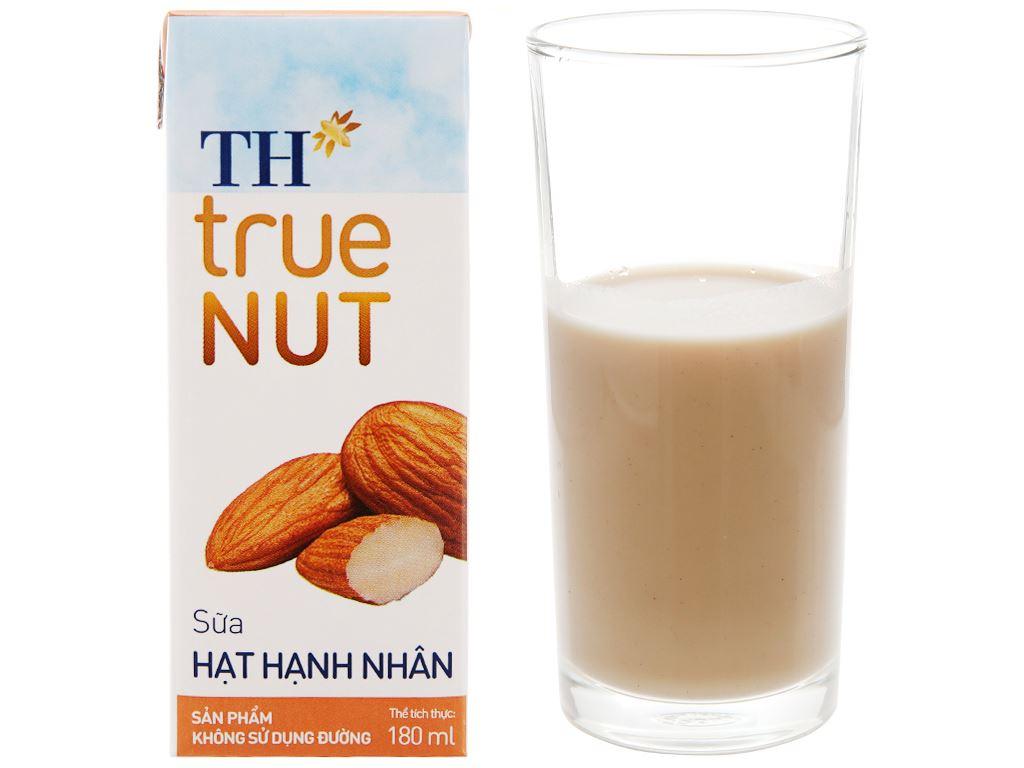 Lốc 4 hộp Sữa hạnh nhân TH True Nut 180ml 2