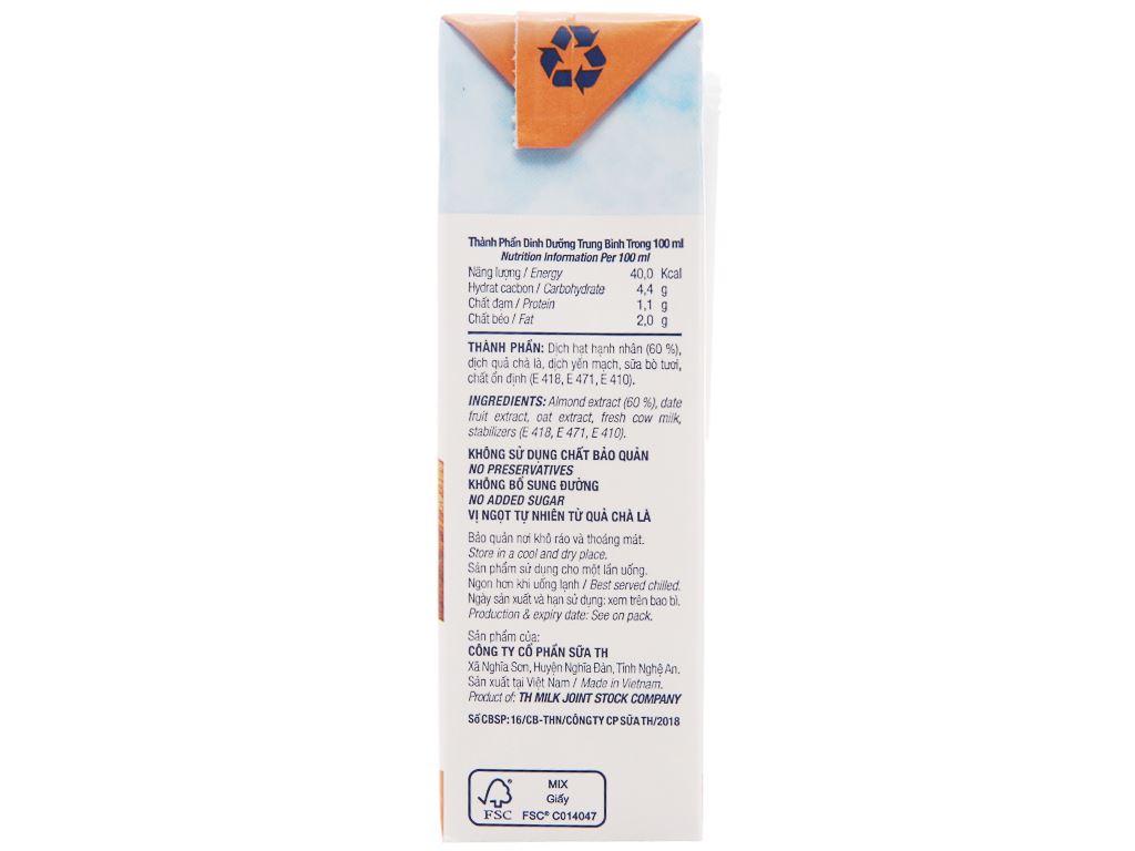 Lốc 4 hộp Sữa hạnh nhân TH True Nut 180ml 3