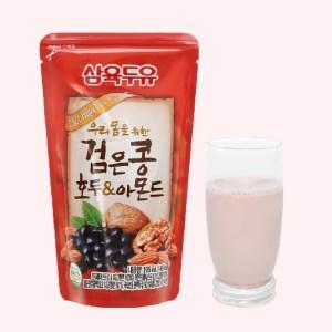 Sữa đậu đen óc chó hạnh nhân Sahmyook bịch 195 ml