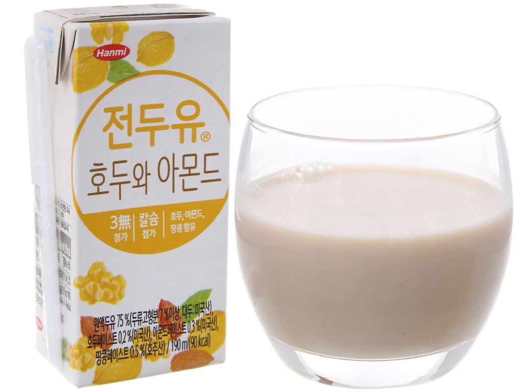 Sữa đậu nành óc chó hạnh nhân Hanmi 190ml 2
