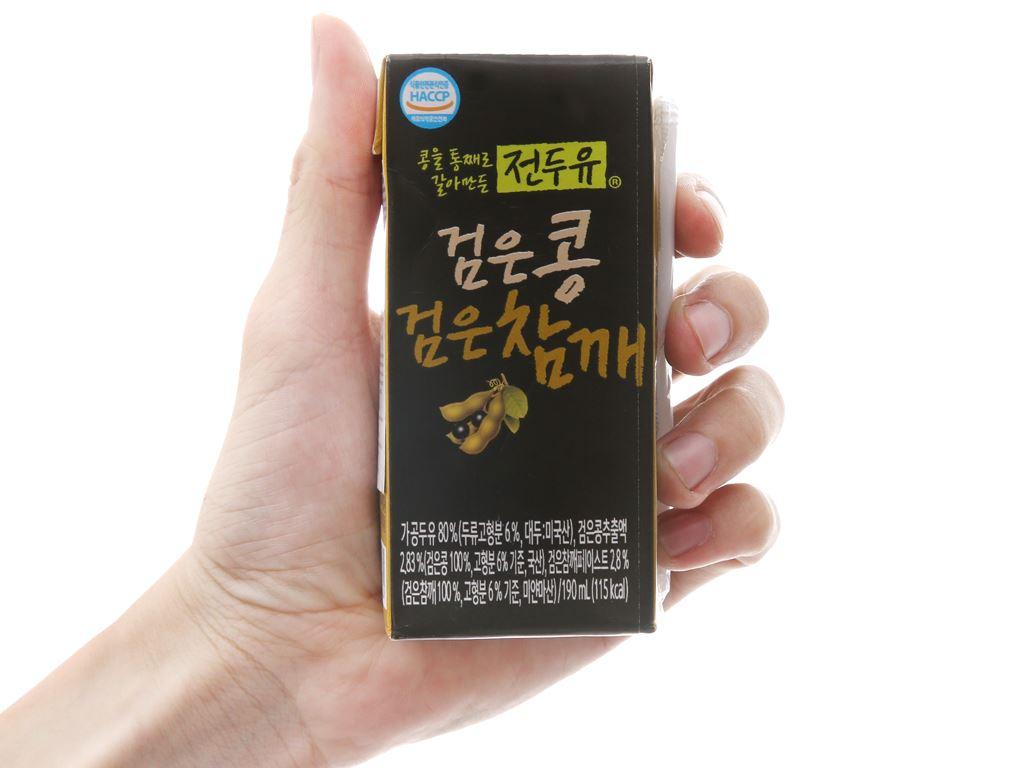 Sữa đậu đen mè đen Hanmi 190ml 5