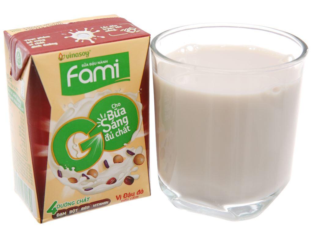 Thùng 36 hộp Sữa đậu nành Fami Go đậu đỏ nếp cẩm 200ml 3