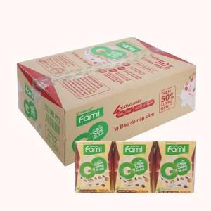 Thùng 36 hộp sữa đậu nành đậu đỏ nếp cẩm Fami Go 200ml